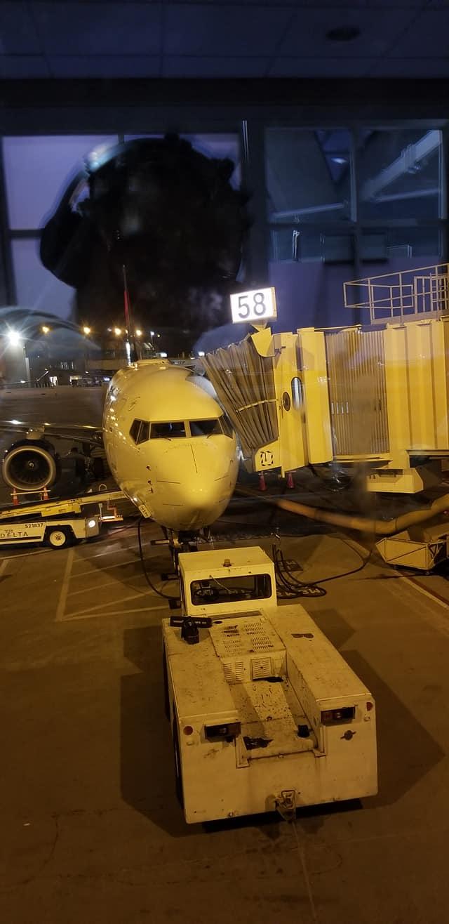 Delta Airlines flight from KCI