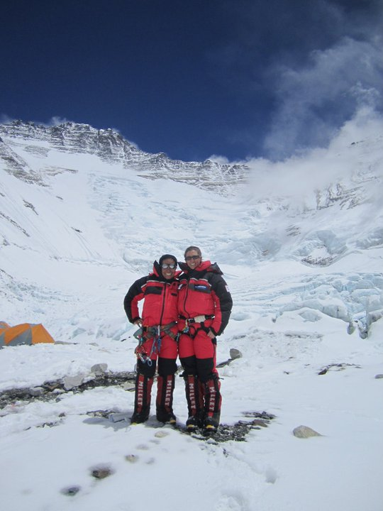 Pam and I at Camp 2 Everest