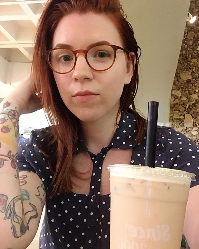 You guys, I survived my first full day as a new ucla student 🤓🐻 Treating myself to some boba, cause #selfcare 🍵 Also, I'm pretty sure I'm one of the *very* few people with visible sleeve tattoos on campus.... Which is super weird because normally I'm around people with way me than me, but as the grandma 👵🏼 I suppose I better let my freak flag fly 🏳️🌈 #abigailgreydanus