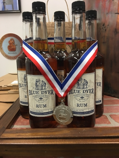 WE WOULD LIKE TO EXTEND OUR SINCERE AND OVERWHELMING GRATITUDE TO THE GOOD FOLKS OF THE 2017 AMERICAN DISTILLING INSTITUTE JUDGING OF CRAFT SPIRITS FOR AWARDING US WITH THE SILVER MEDAL FOR HAND CRAFTED AGED RUM. WE'D ALSO LIKE TO THANK EACH AND EVERY ONE OF OUR CUSTOMERS WHO CONTINUE TO SUPPORT US. WE COULD NOT HAVE DONE THIS WITHOUT YOU. WE PROMISE TO CONTINUE TO DELIVER HIGH QUALITY SPIRITS