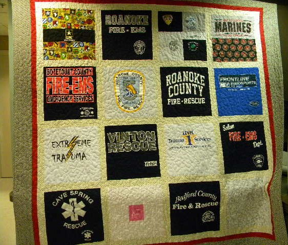 - Ms. Ostermann,I wanted to thank you again for making the t-shirt quilt for our co-worker fighting cancer in such a short time. He was speechless (which is rare)! It speaks volumes and it has received many awesome reviews. I am including a picture with Billy and the quilt (he wanted it covering him) and a picture we took prior to giving it to him.