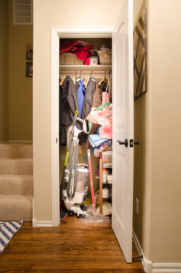 FIRST, Identify a closet that will work to add an Elevator