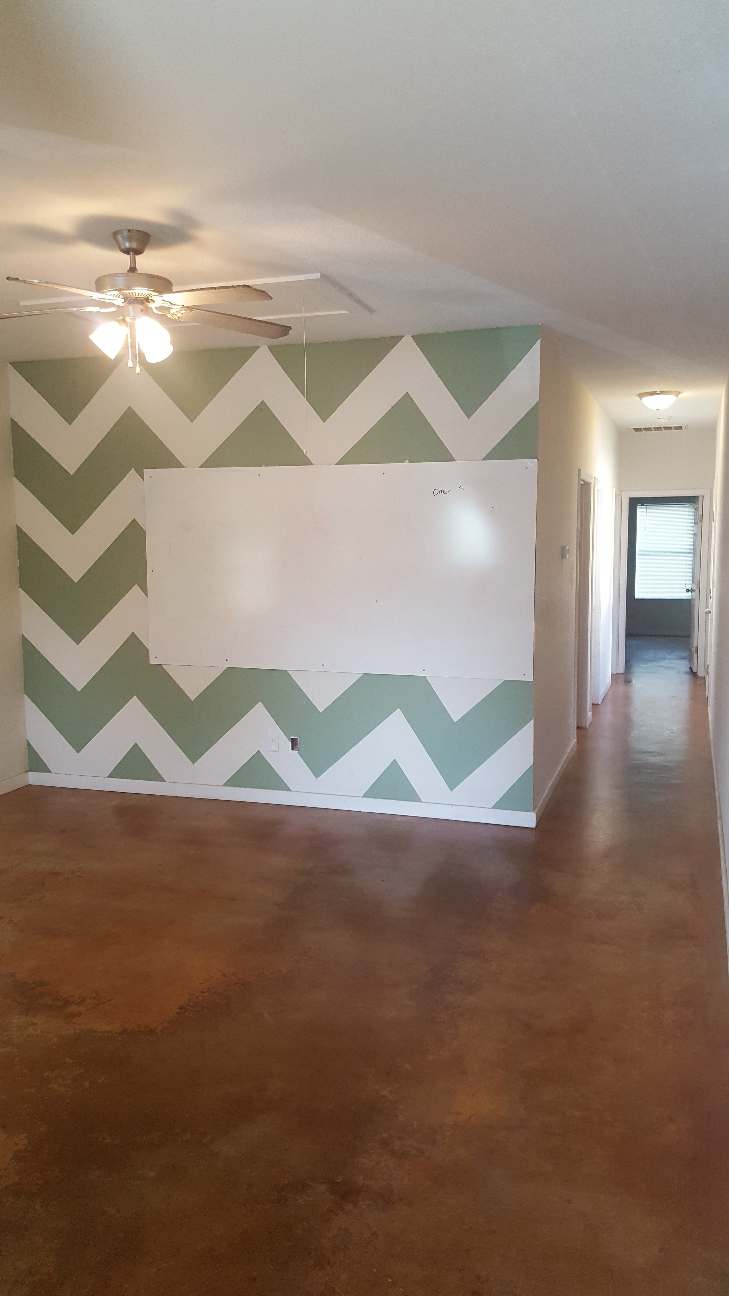 *Walls have been repainted*