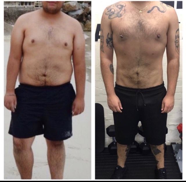 20kg difference between these two photos. Our client here has learned its not easy to maintain a new weight and that maintaining a 20kg difference is just as important and equally as difficult as the initial weight loss.