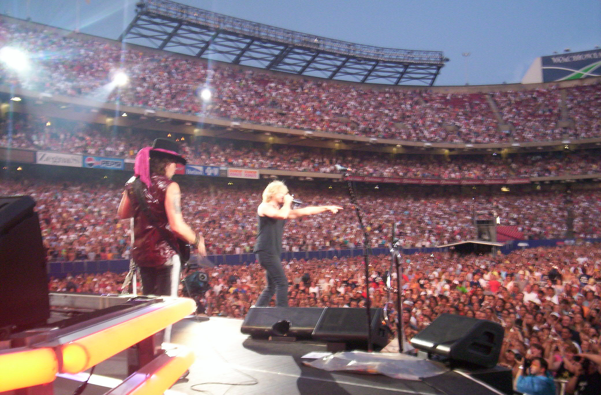 Things unlikely to happen elsewhere: Being on stage with Bon Jovi at MetLife Stadium