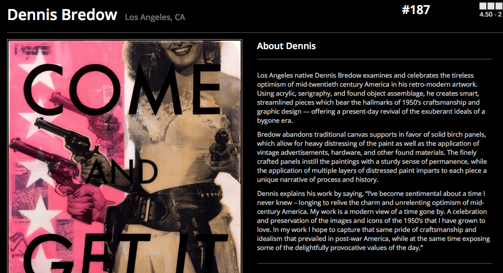 artistaday.com feature on Dennis Bredow's original art