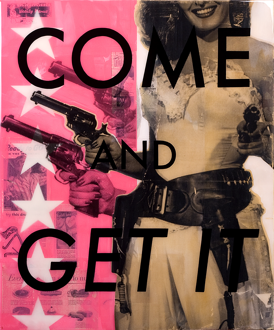 """Come And Get It  30""""x36"""" Mixed Media Original on Board"""
