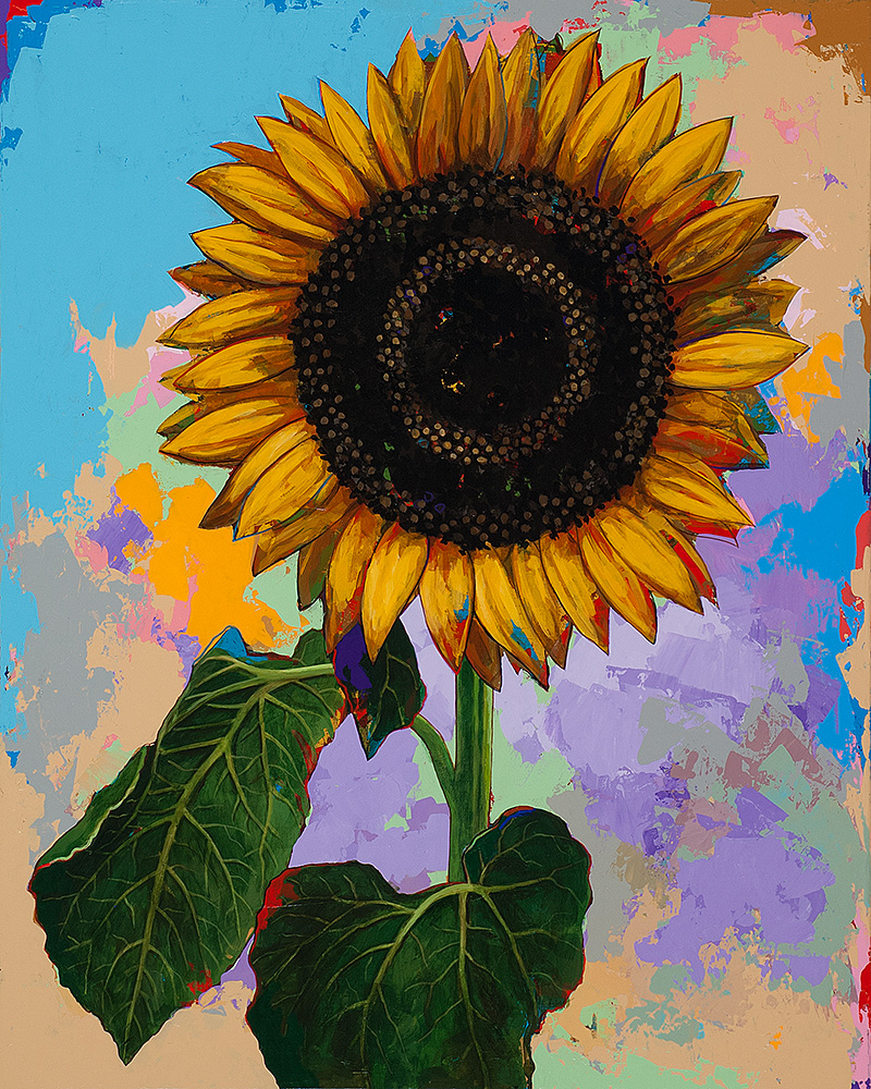 "Sunflowers #4 by David Palmer - Original Painting on Canvas 24""x30"" - $2,400"