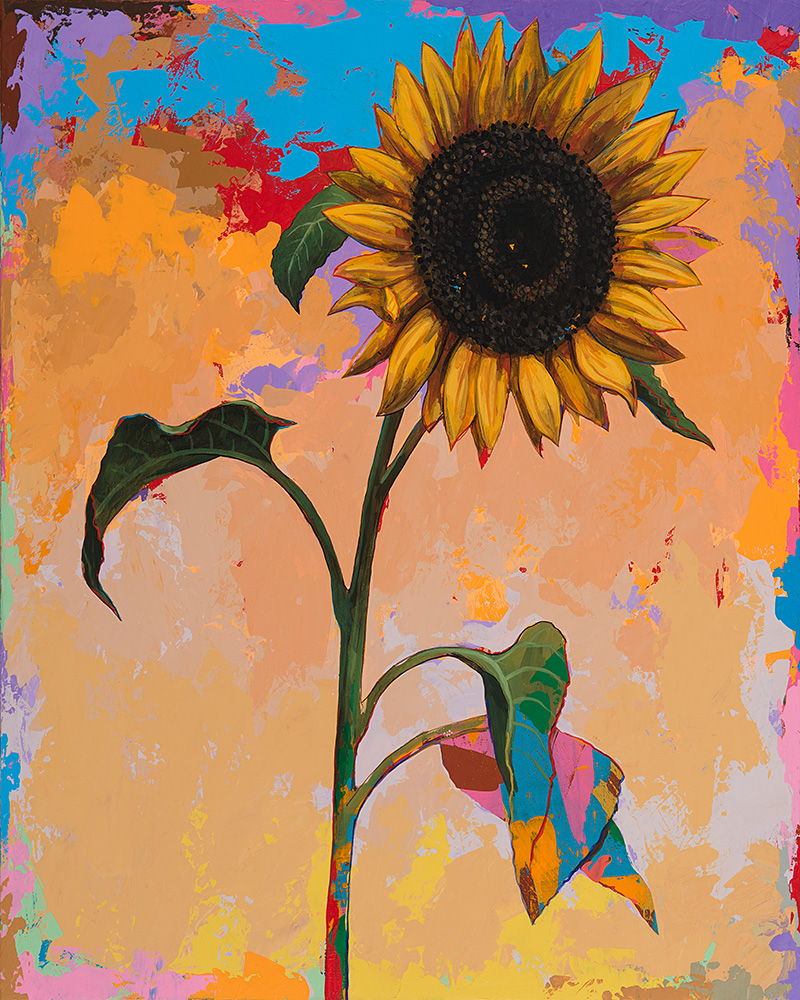 "Sunflowers #3 by David Palmer - Original Painting on Canvas 24""x30"" - $2,400"