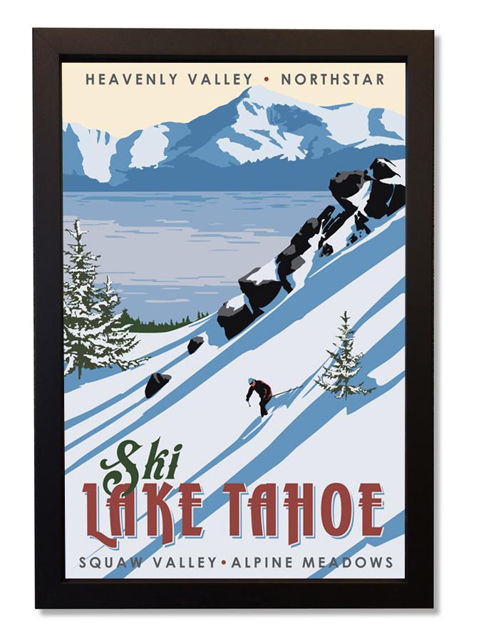 Ski Lake Tahoe framed.jpg