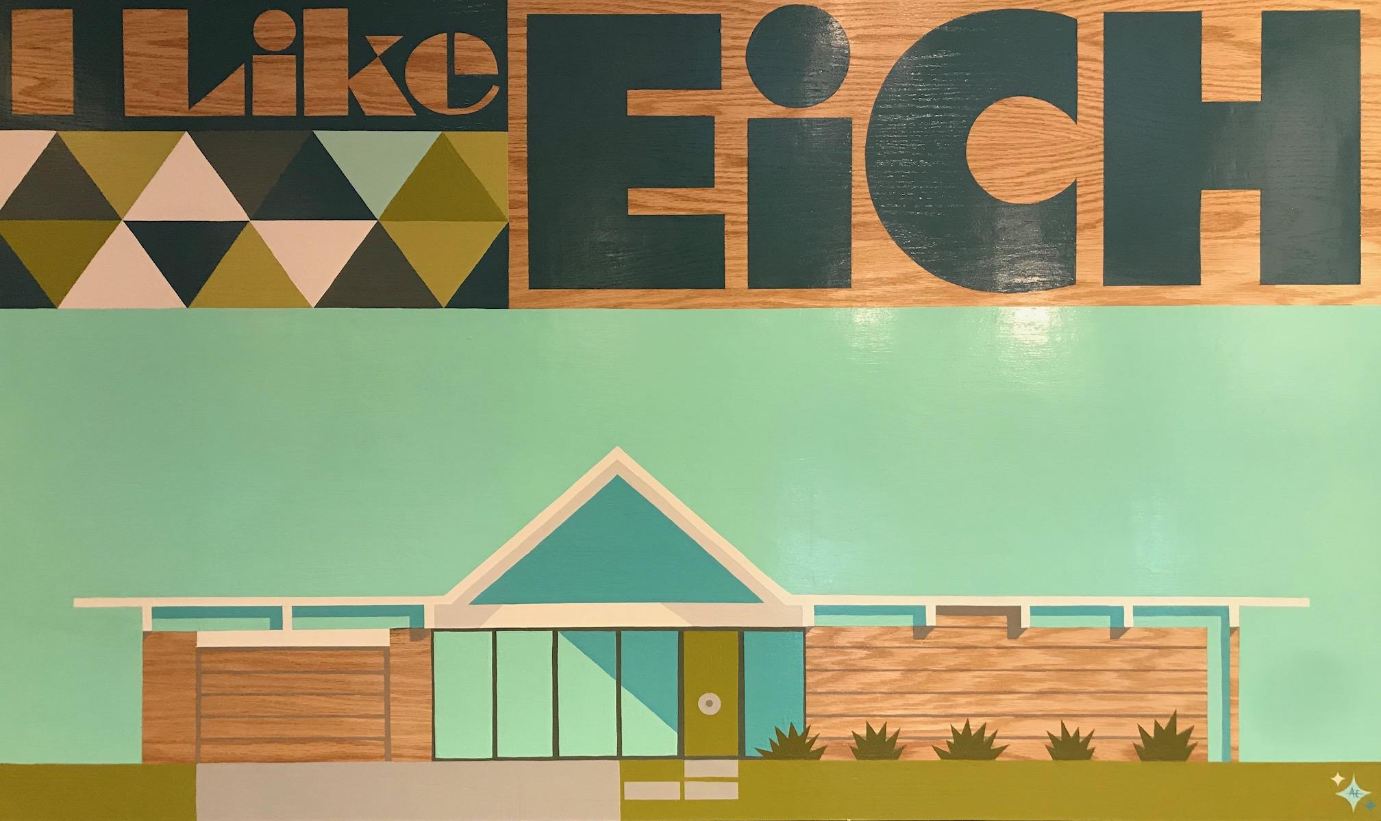 """""""I Like Eich""""-36""""x60"""" -Original Acrylic on Board by Aaron Eskridge"""