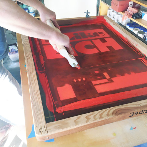 """I Like Eich""-18""x24.5"" -Limited Edition Serigraph by Aaron Eskridge"