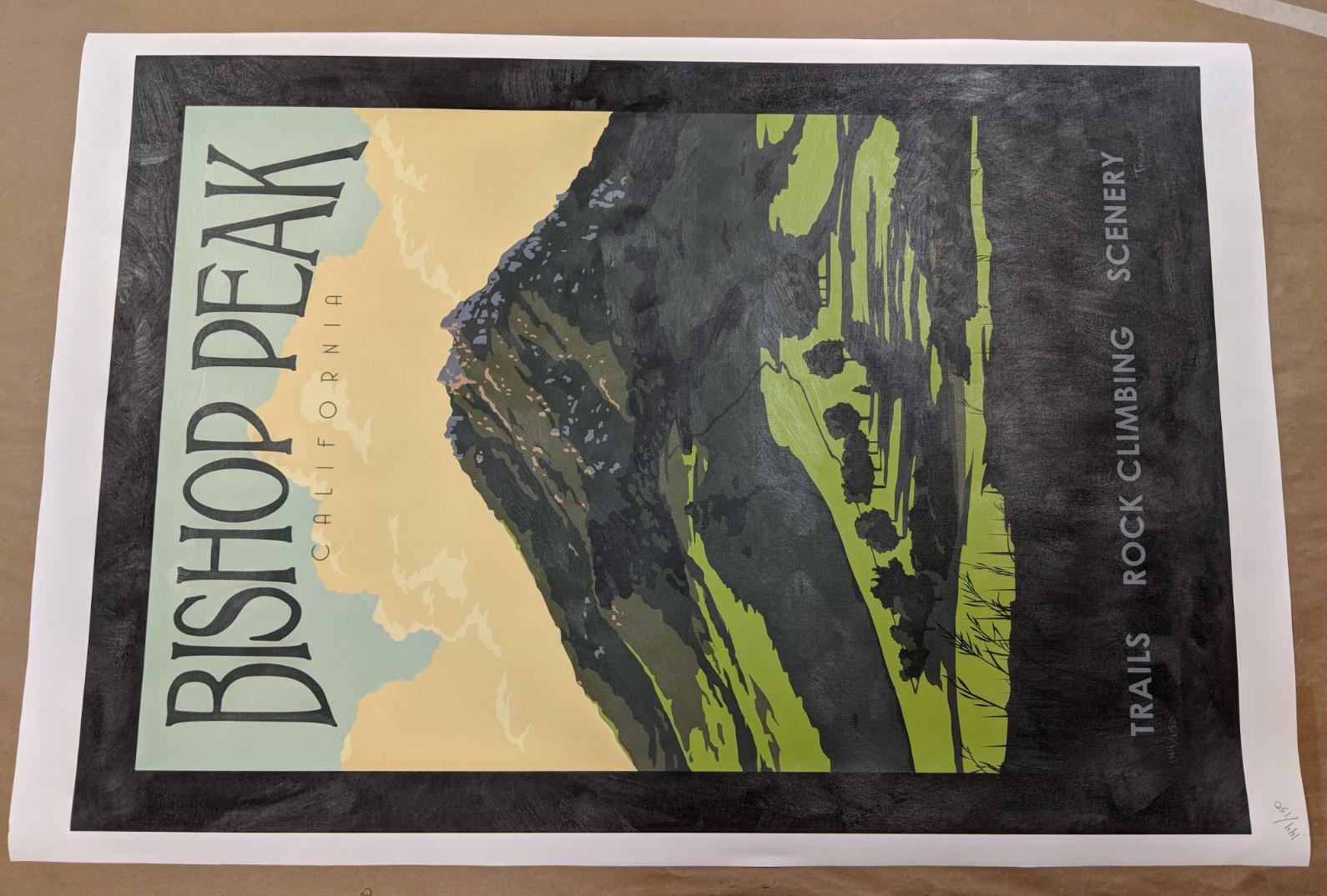 Bishop Peak Limited Edition Print on Canvas