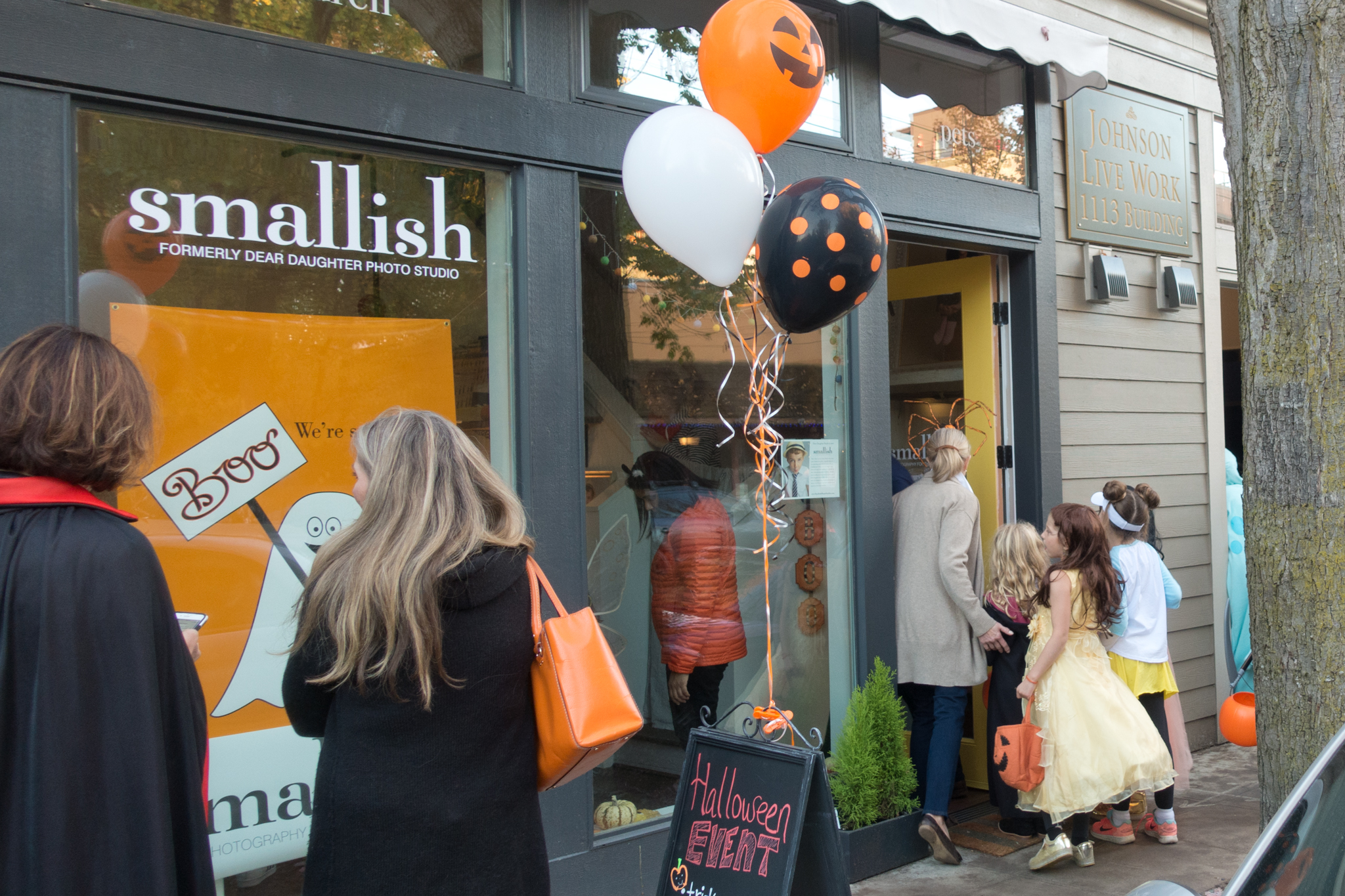 smallish halloween in madrona business district