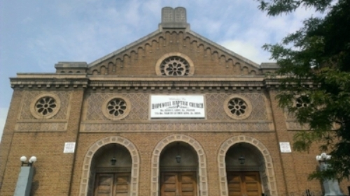 The Old B'nai Jeshurun building in Newark, now Hopewell Baptist Church.
