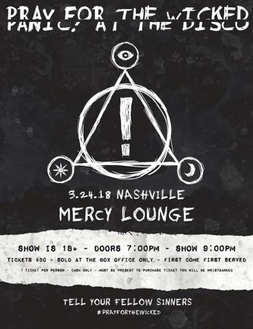 Panic! At The Disco - Venue: Mercy LoungeCity: Nashville, TNDate: March 24, 2018
