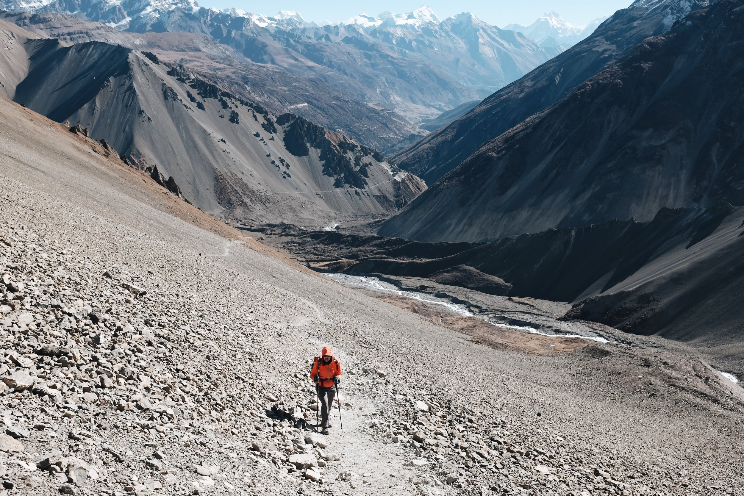 Jackie Antig, Founder, trekking the Annapurna Circuit in Nepal.