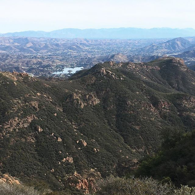 Lake Sherwood in the distance #UntetheredLA