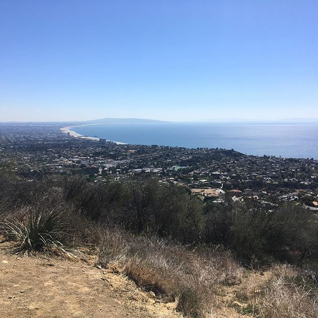 Sunday morning's view at Temescal Canyon. Burn burn burn and then mimosas after 🥂