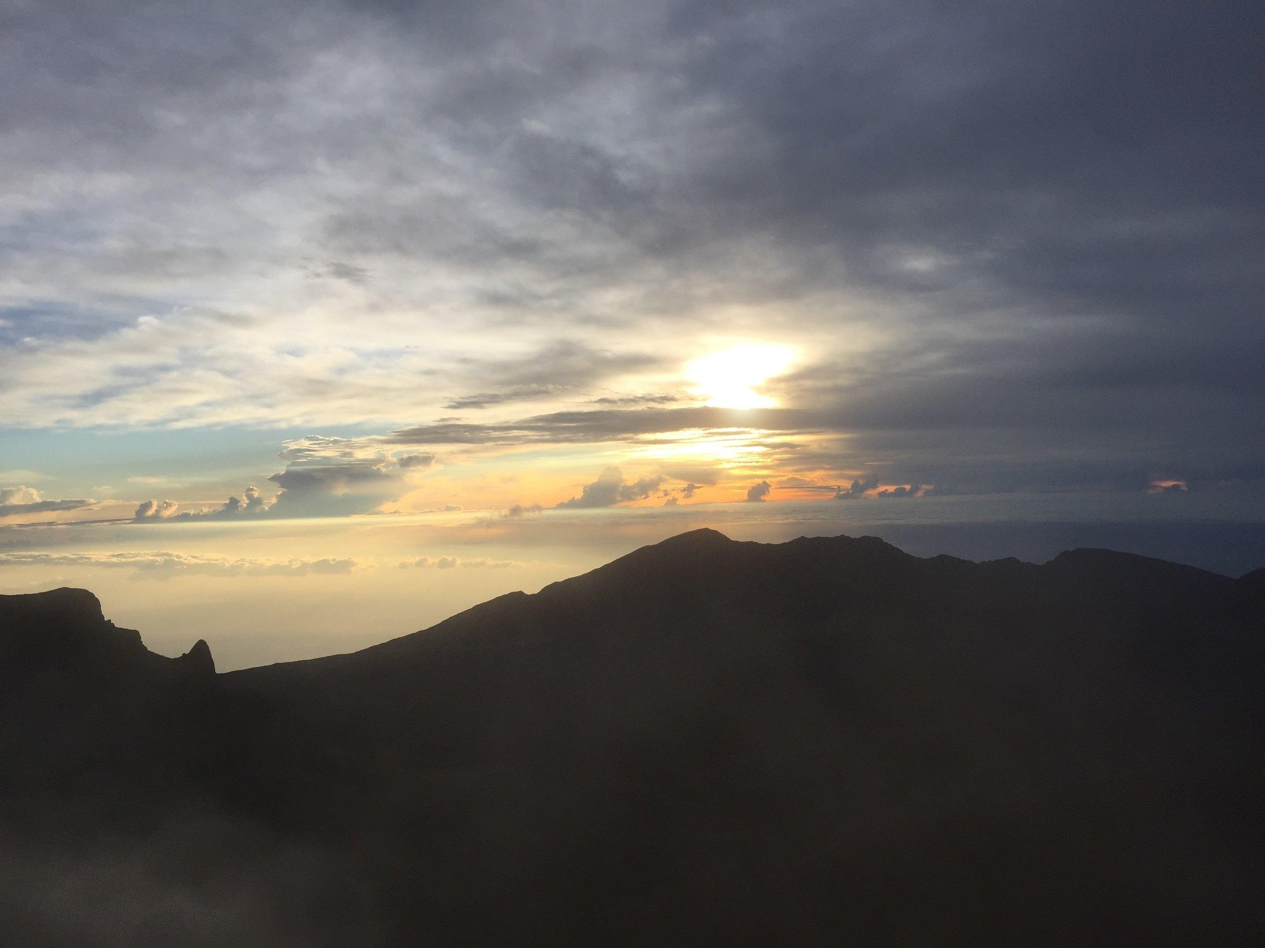 Sunrise at 10,000 feet, Maui