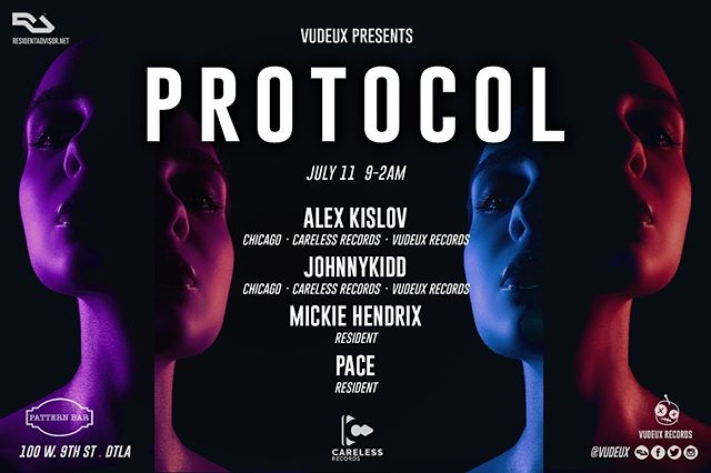 🔊🎶Tonight @patternbar! // Vudeux presents #Protocol with @carelessrecords // DJs Alex Kislov, JohnnyKidd, Mickie Hendrix, and Pace // 100 w 9th St // 9-2am // House music all night long! 🎶 . . .  #housemusic #deeptech #techno #residentadvisor #housemusiclovers #techhouse #deephouse #progressivehouse #electronicmusic #dancemusic #clubmusic #nightclub #la #losangeles #dj #producers #lanightlife #laparties #chicagohouse #chicagohousemusic