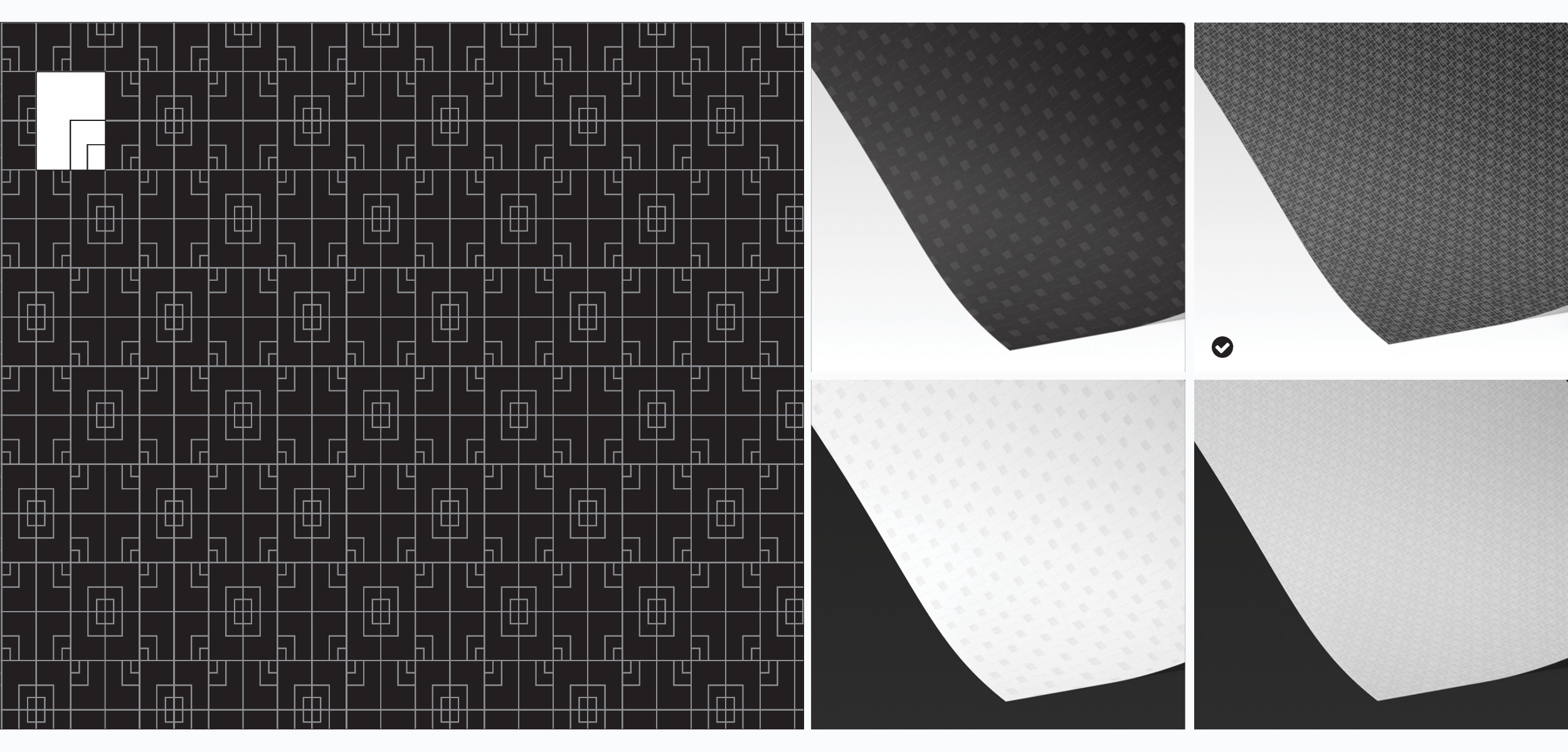 Pattern and the wrapping paper - Pattern that is used extensively throughout the packaging system is constructed from a reversed logotype and strikes the intricate balance between the rhythm of the elements and visual variations, thus inviting the viewer to spend sometime figuring it out.
