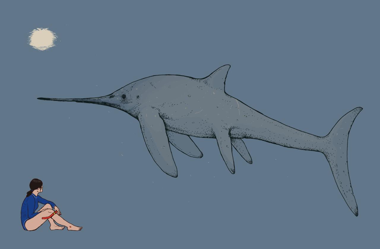 """""""Eurhinosaurus,"""" digital illustration"""