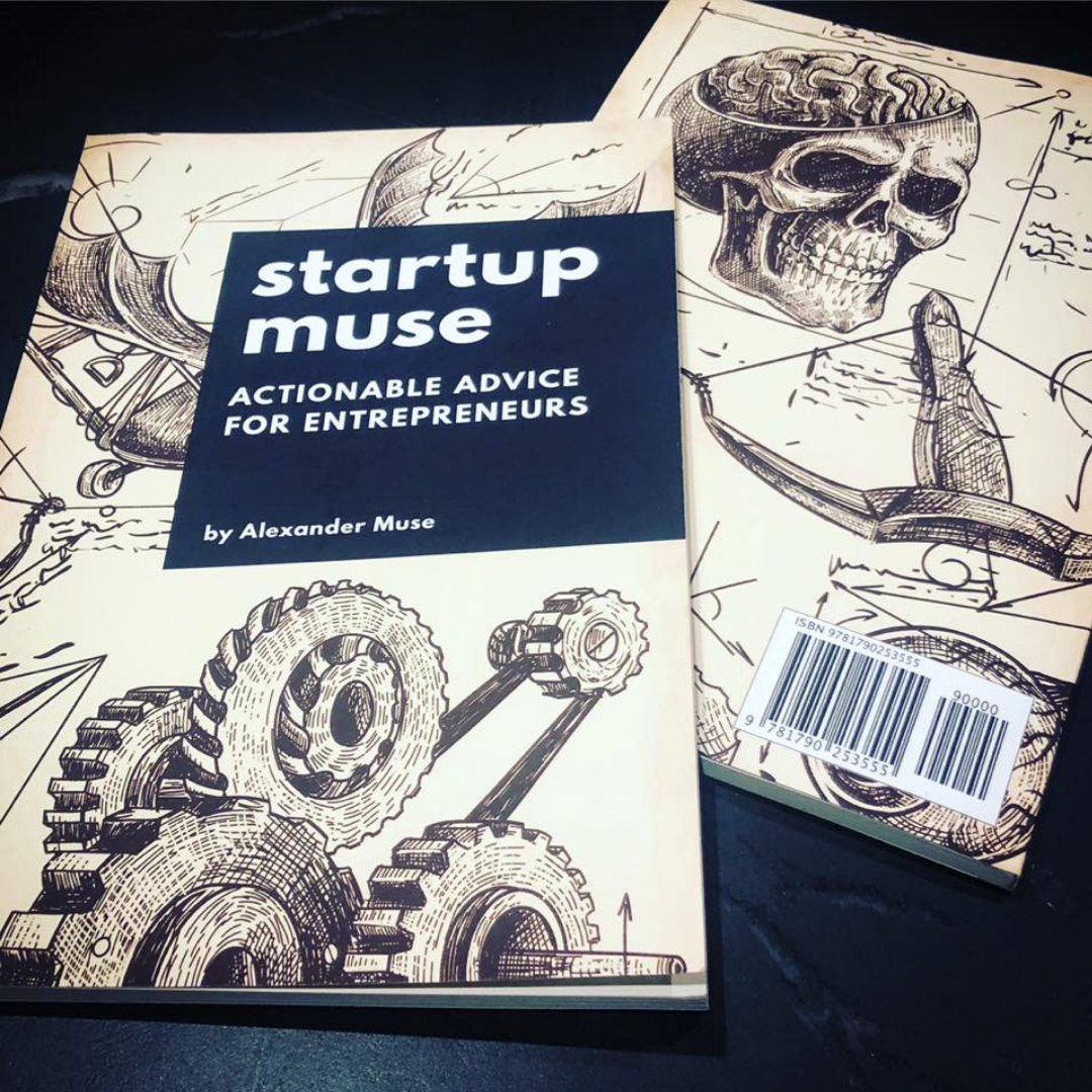 The Startup Muse Book - If you are a first time entrepreneur attempting to raise venture capital this book is for you. The Startup Muse is a no-nonsense guide to raising money for your startup. Available in paperback, Audible, or Kindle Unlimited.