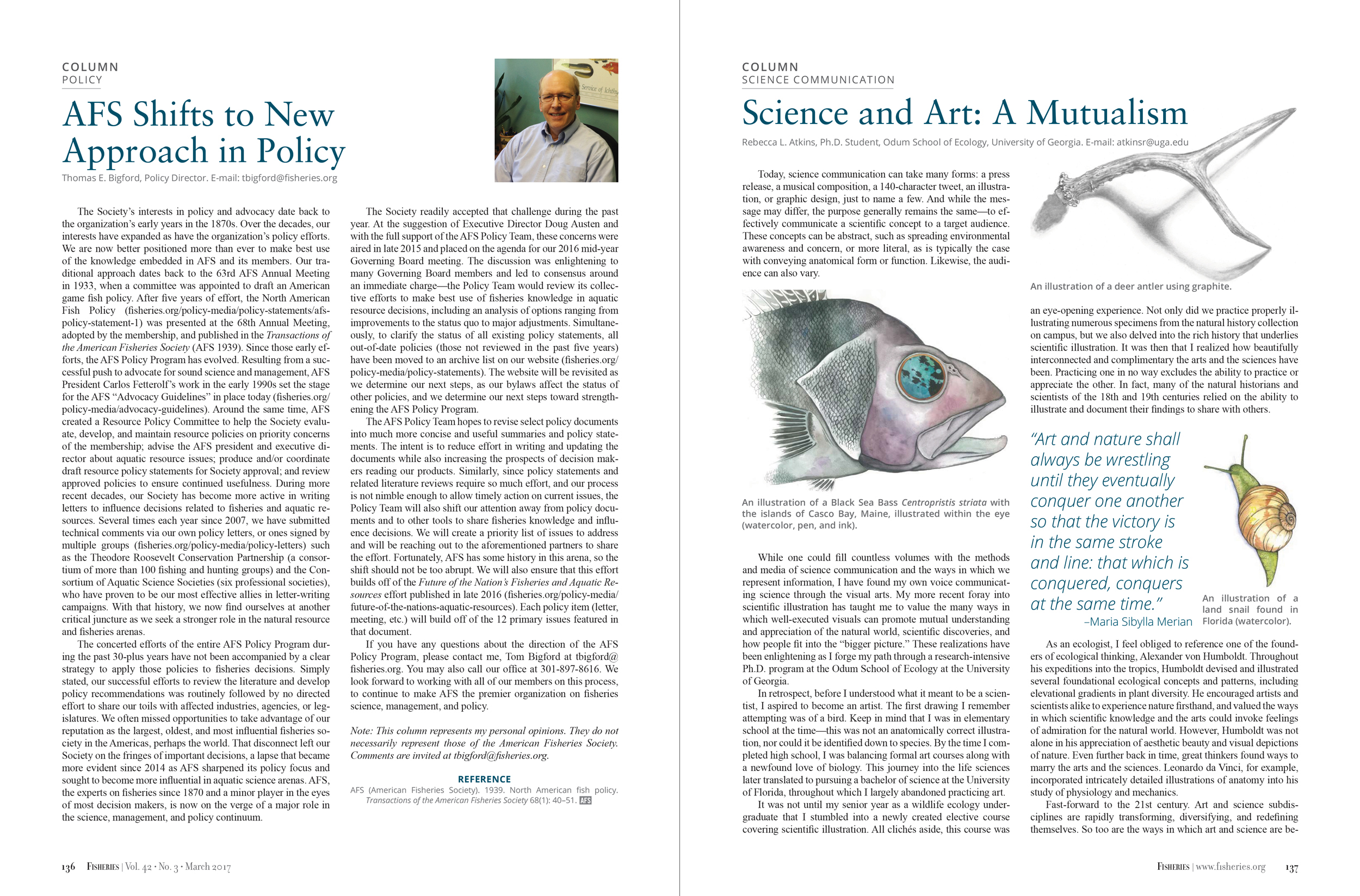 Fisheries Magazine, Interior pages (American Fisheries Society)