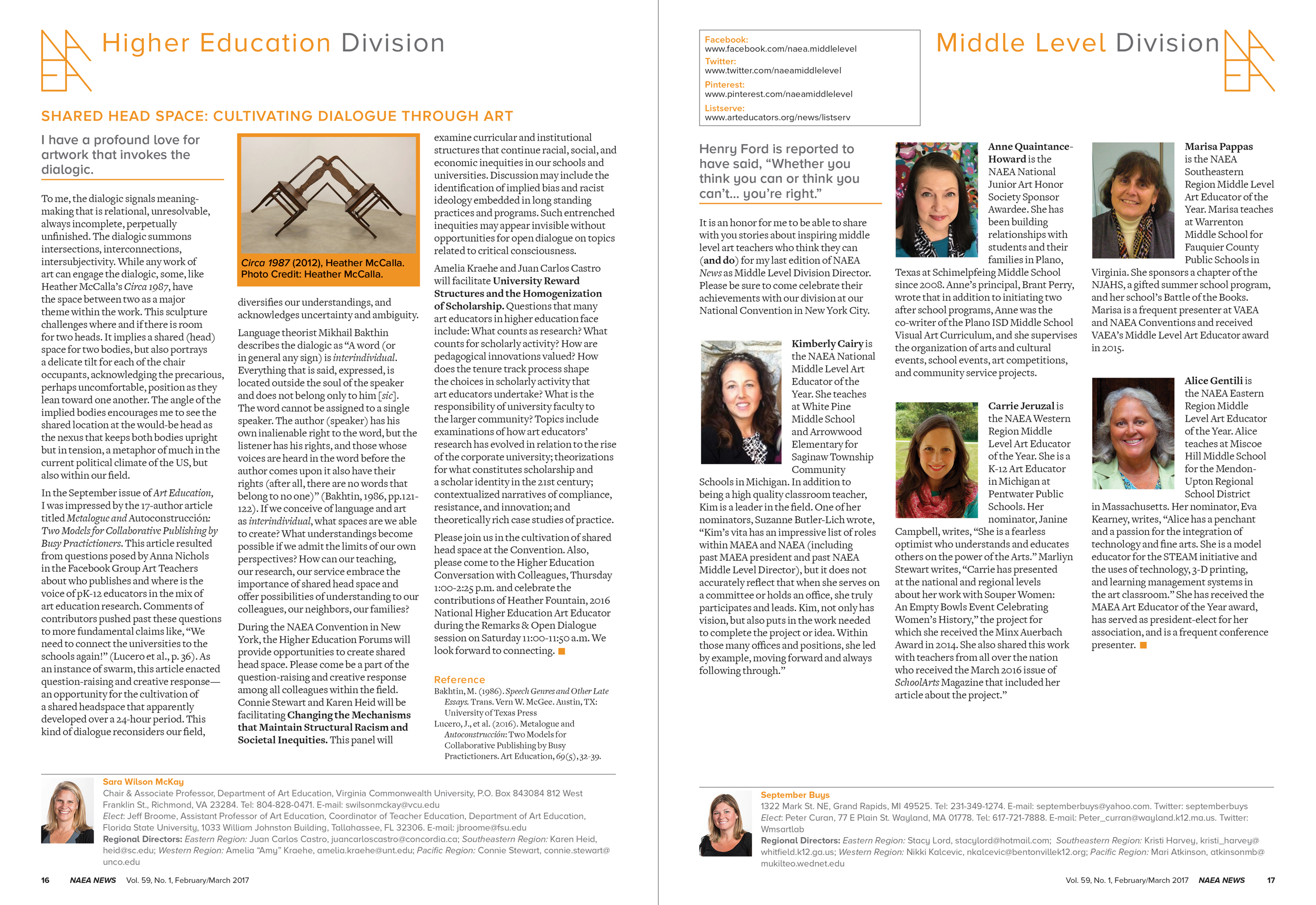 NAEA News, interior pages (National Art Education Association)