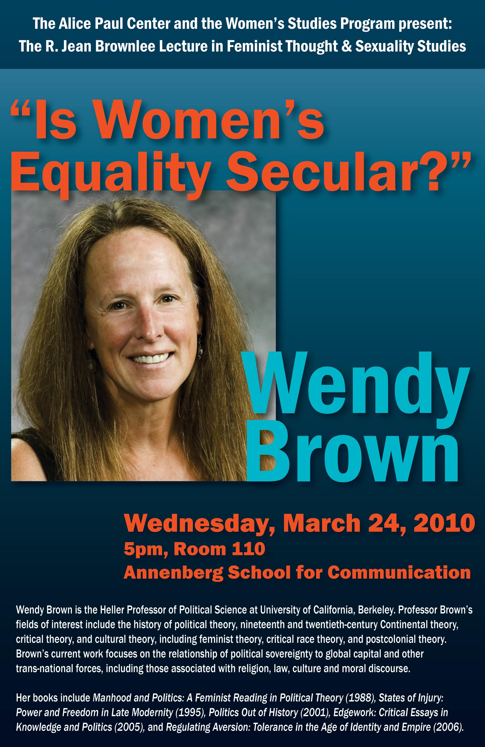 Event poster, University of Pennsylvania Women's Studies Program