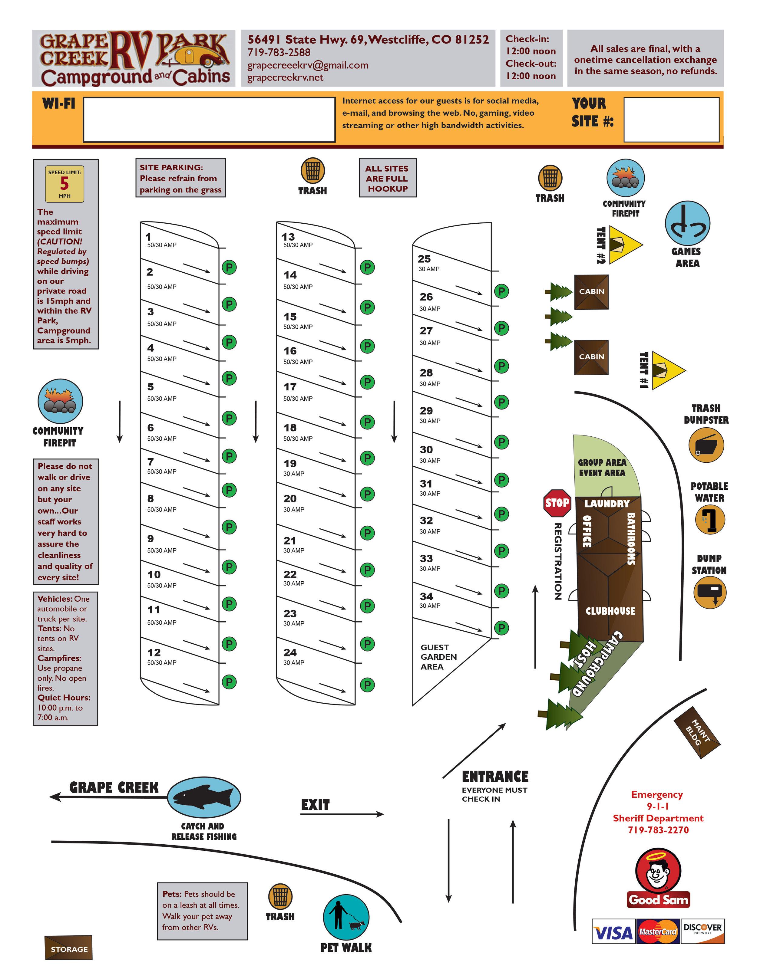Map, Grape Creek RV Park