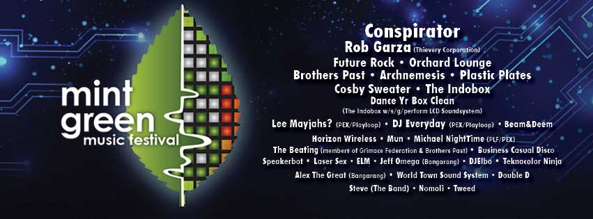 Web banner, Mint Green Music Festival