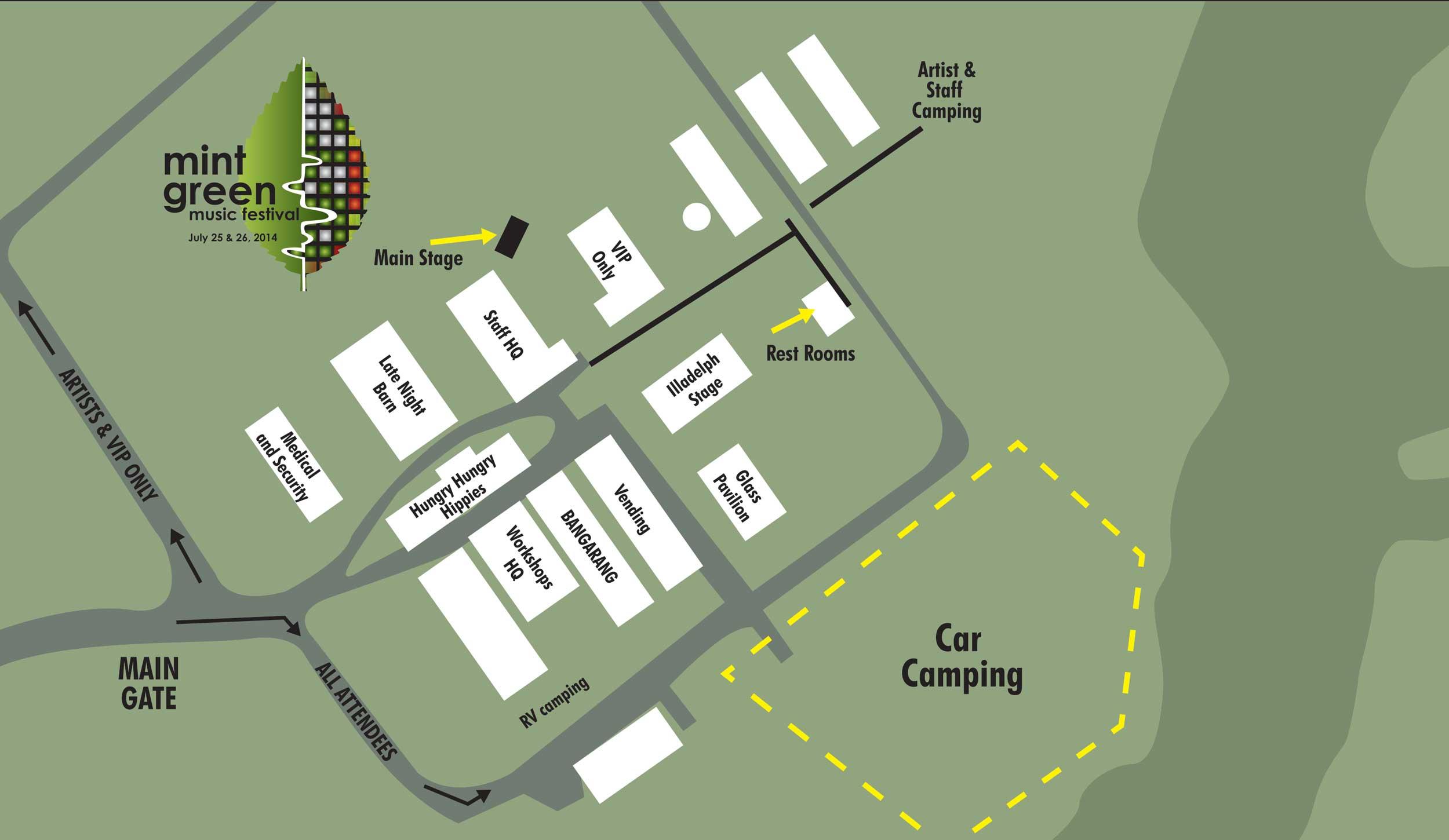 Map, Mint Green Music Festival
