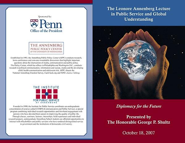 Event program, Annenberg Public Policy Center, University of Pennsylvania