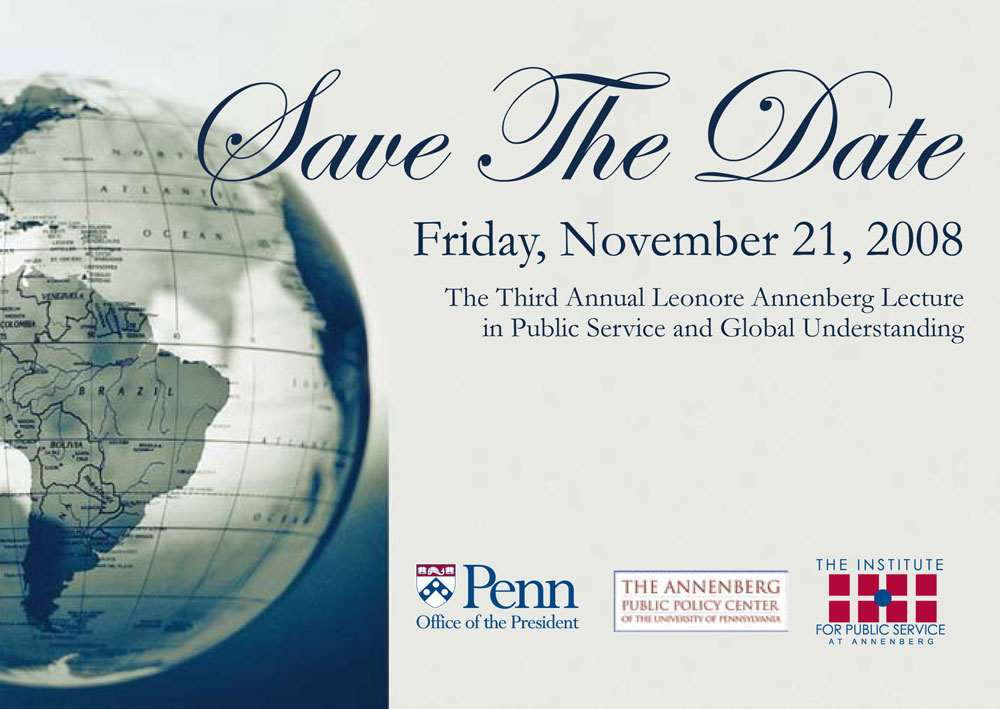 Postcard, Annenberg Public Policy Center, University of Pennsylvania