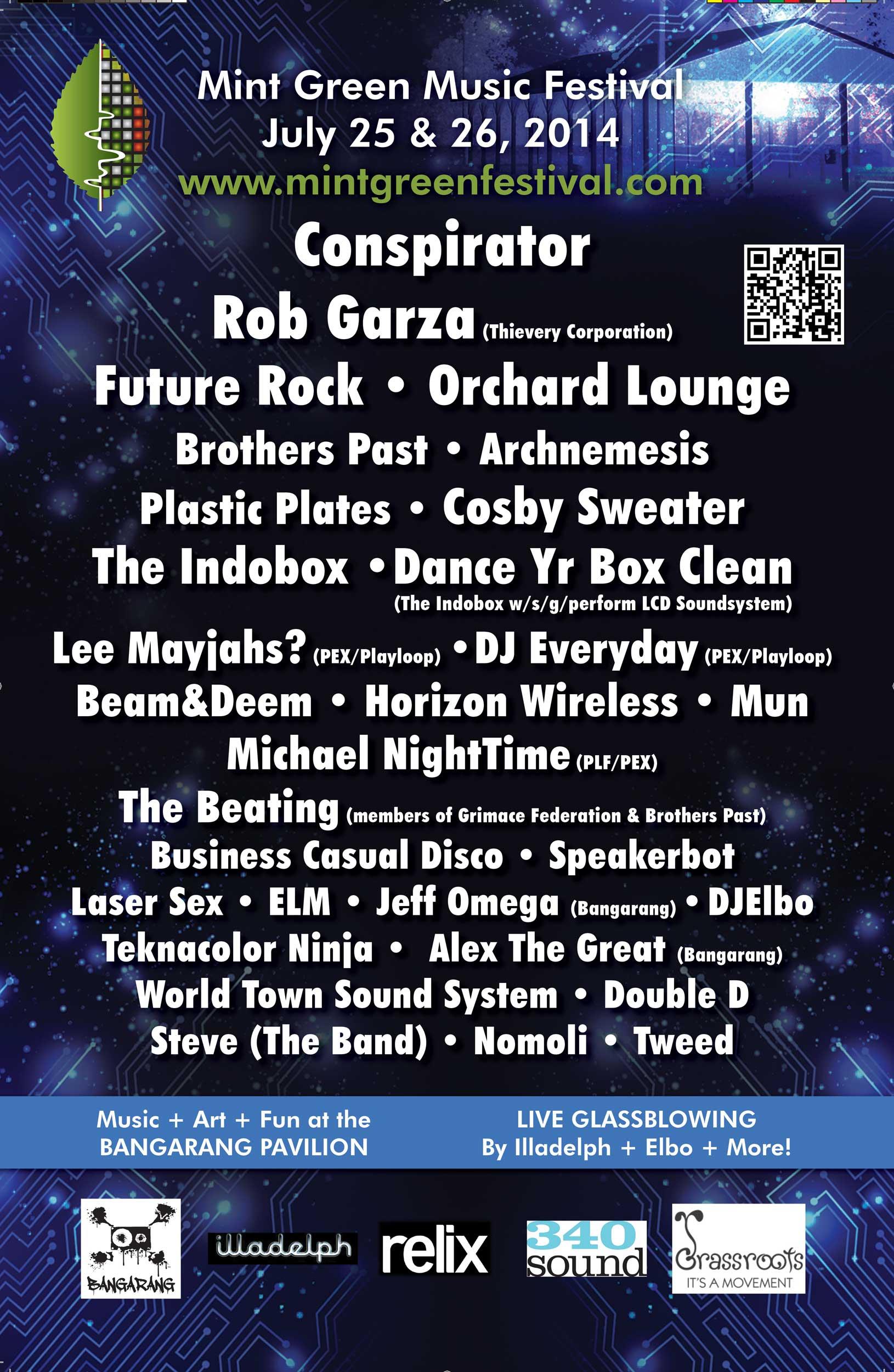 Poster/Postcard, Mint Green Music Festival