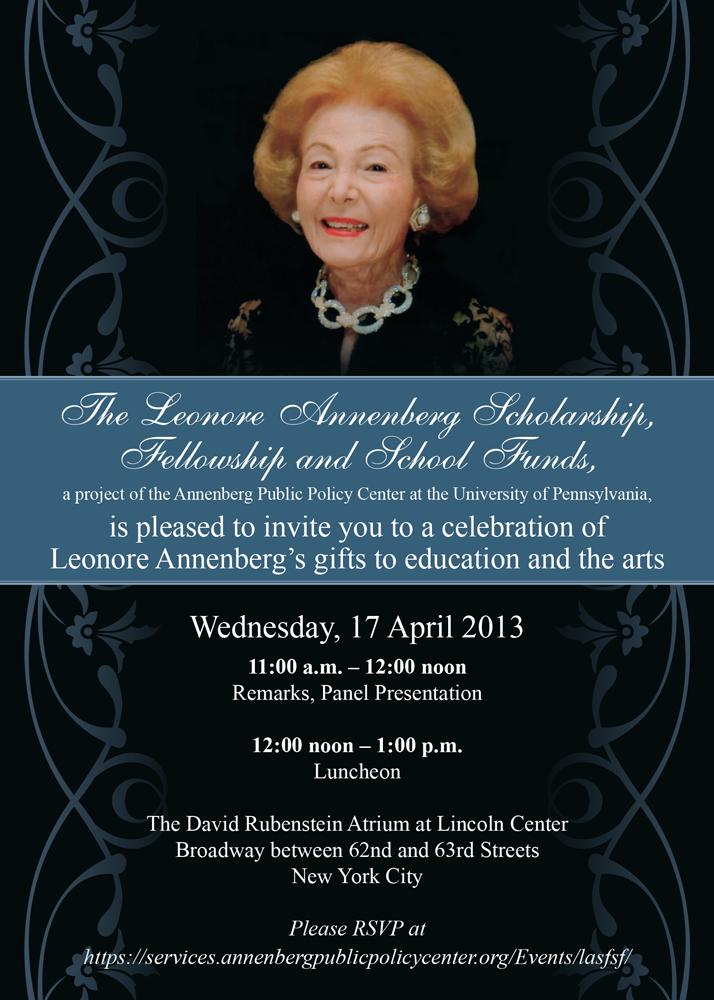 Event invitation, Annenberg Public Policy Center, University of Pennsylvania