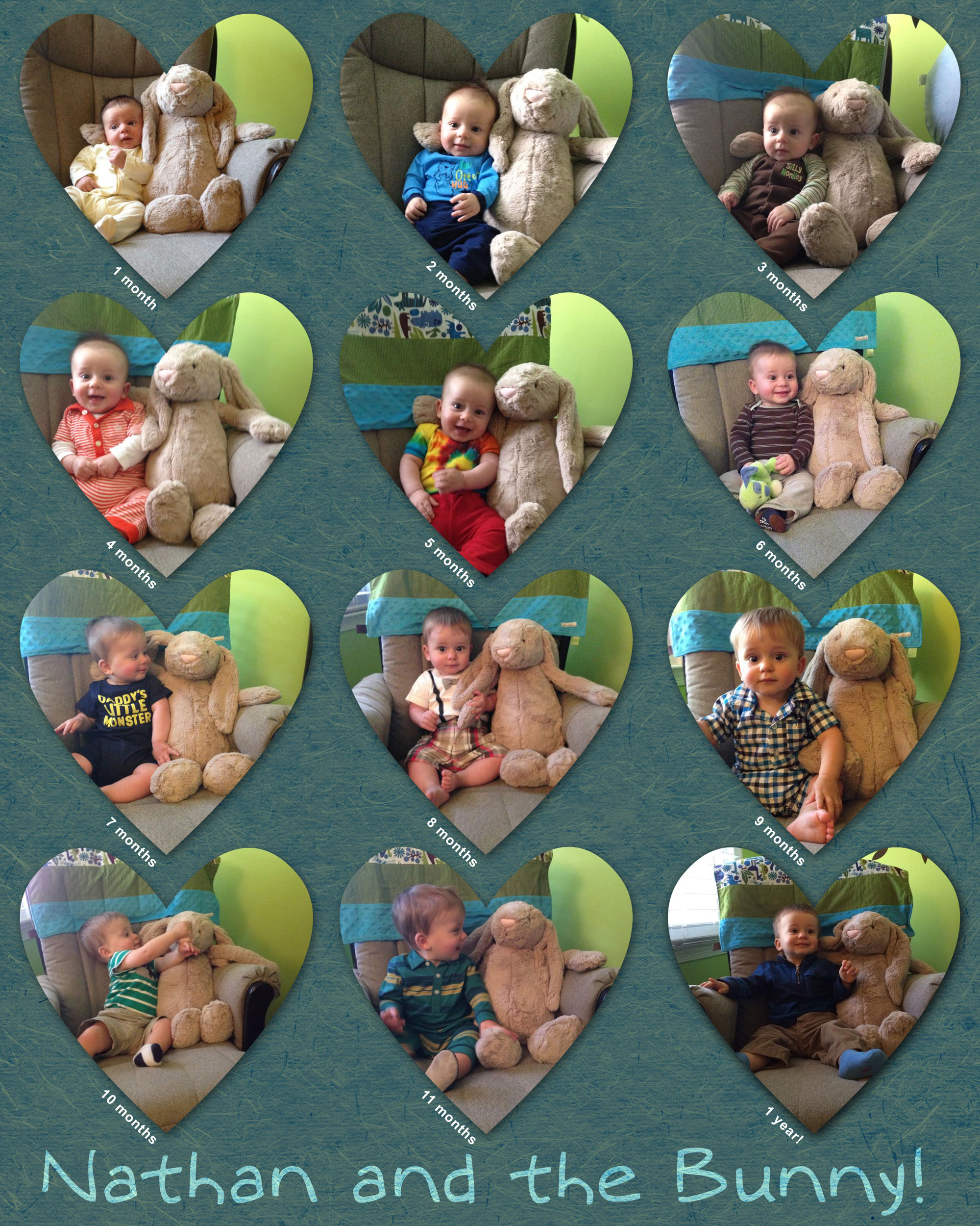 Baby's first year collage