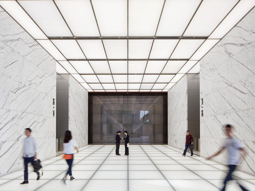 Poly International Plaza, Beijing, China - Elevator Lobby