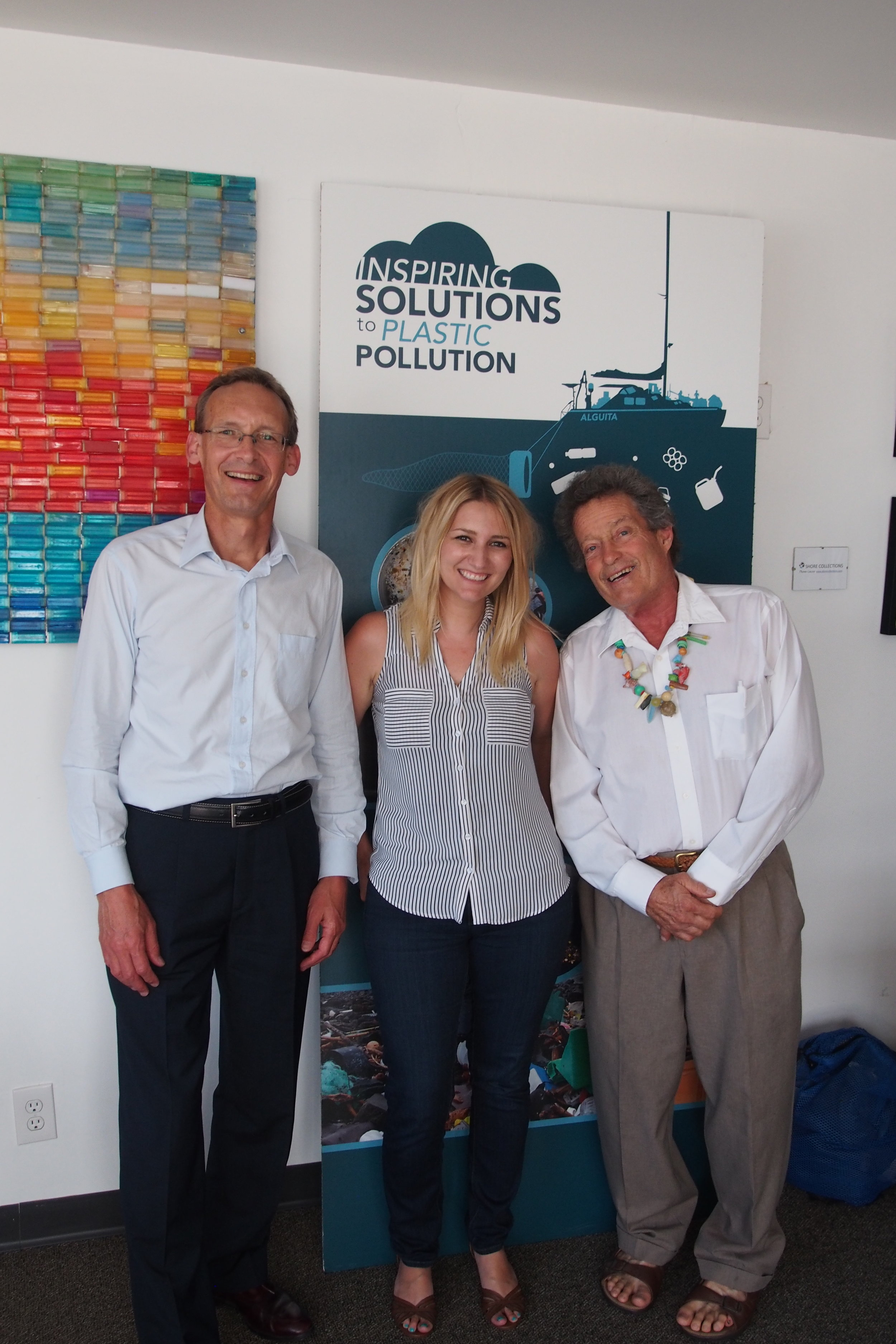 Alga;ita Capt Moore and Katie Allen with Maui's Ark Founder Stephen Harris