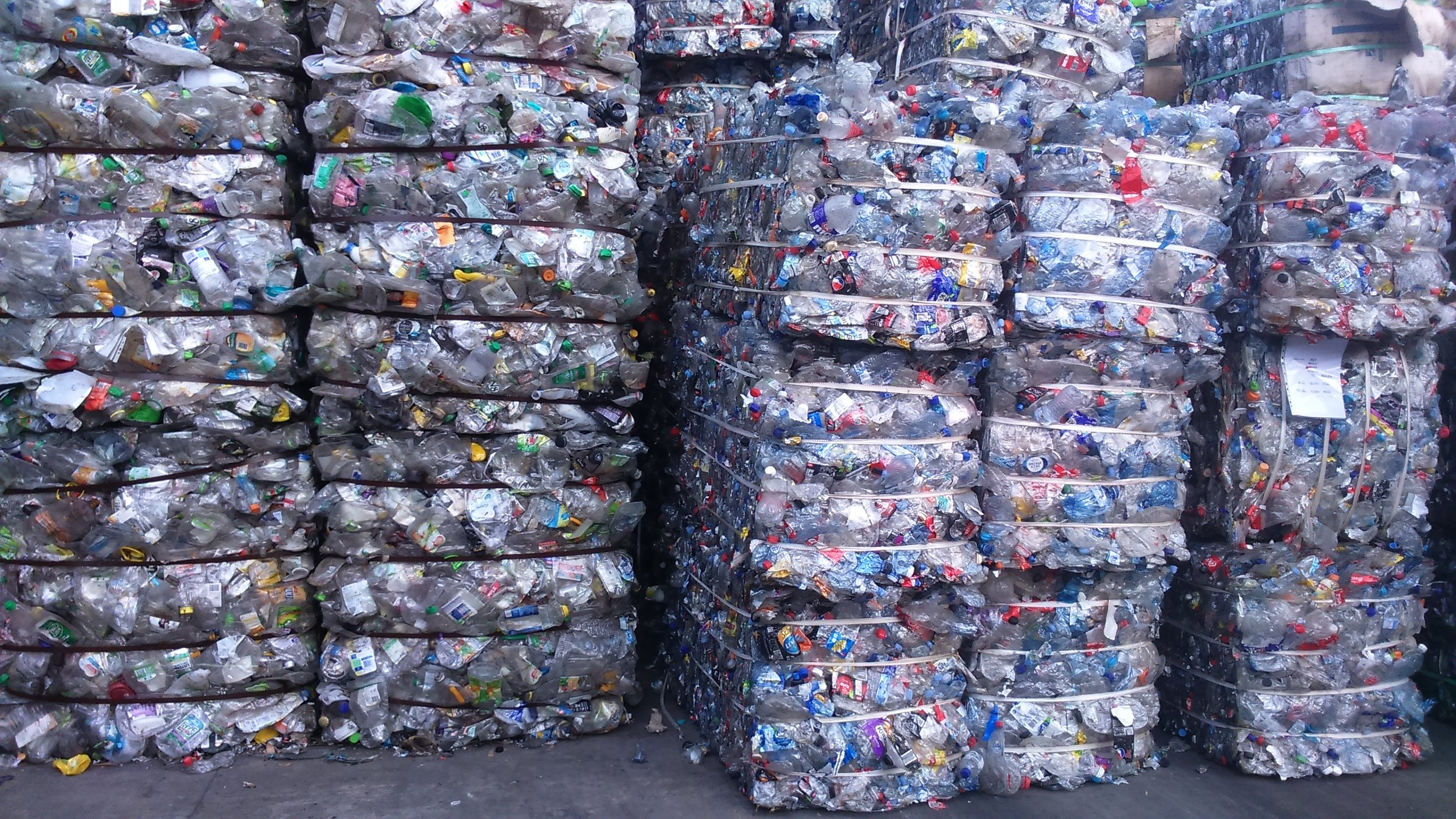 These bales of PET in Sydney will be recycled not exported