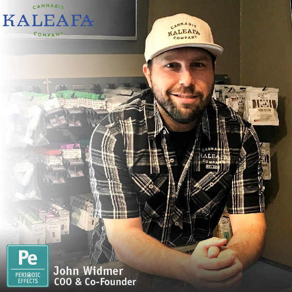 John Widmer COO and Co-Founder of Kaleafa Cannabis Company