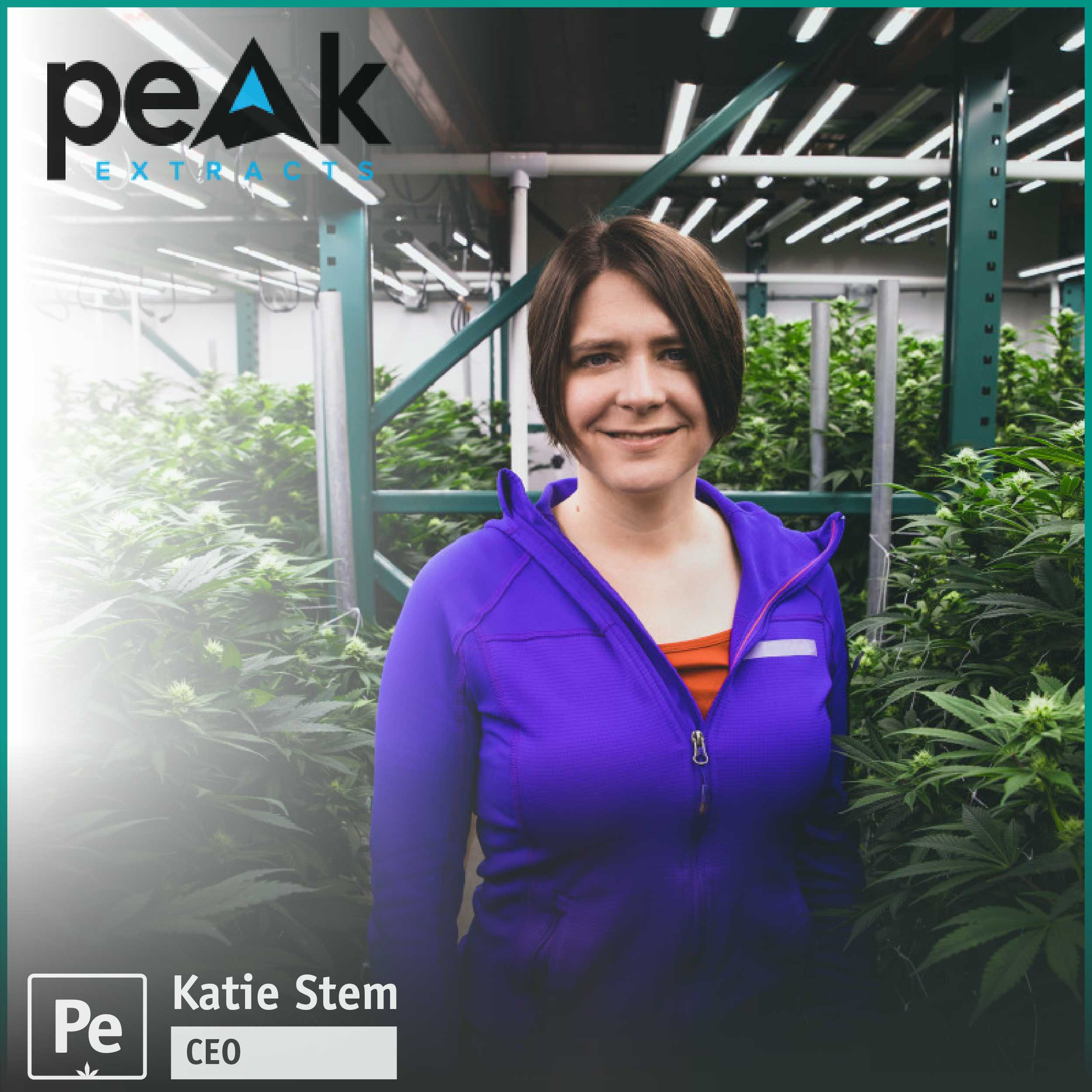 Katie Stem, CEO of Peak Extracts, a cannabis infused edible and extract business