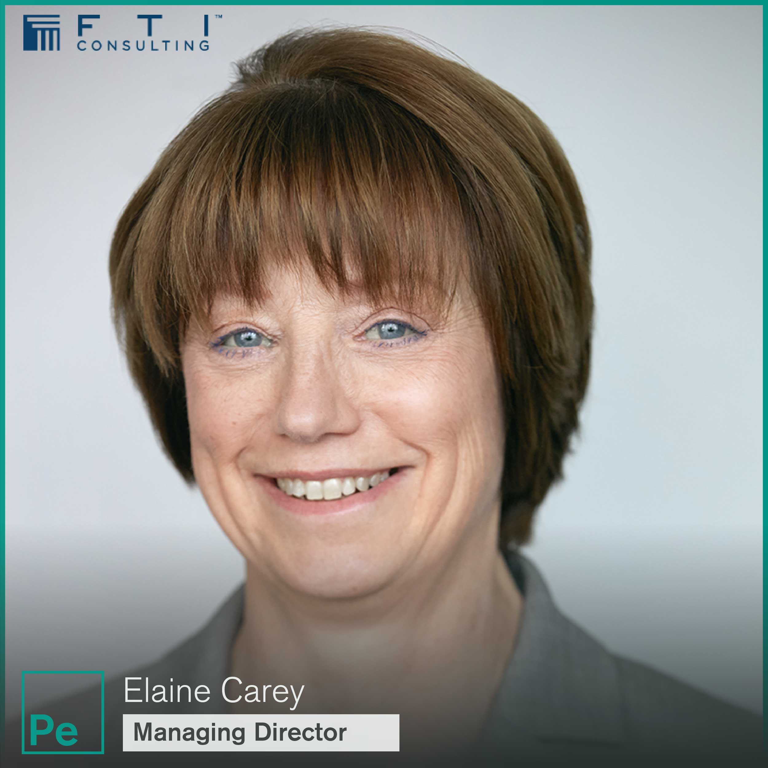 Elaine Carey, Managing Director at FTI Consulting, focusing on the cannabis industry
