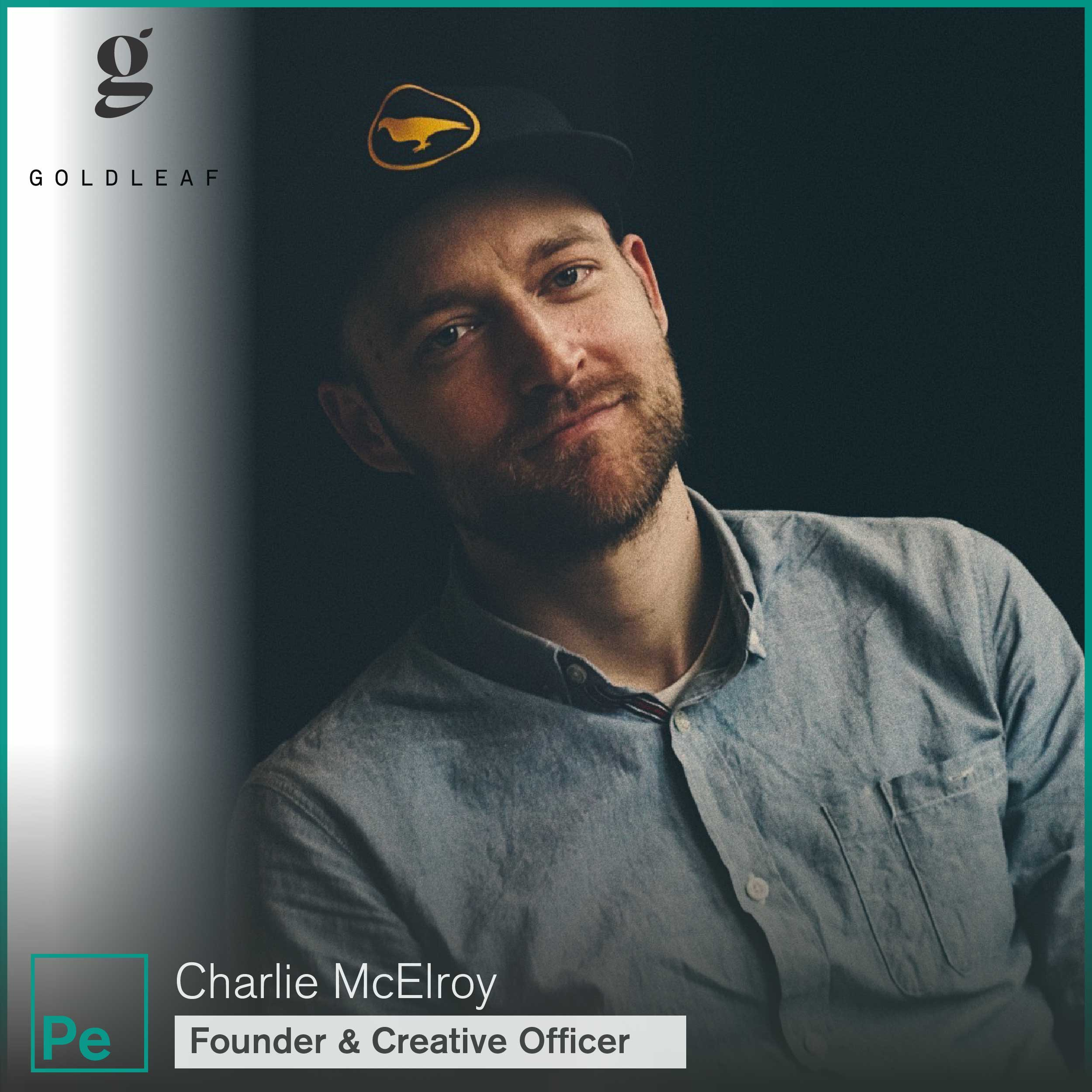 Charlie McElroy, Founder and Creative Officer of Gold Leaf, a cannabis design and science company