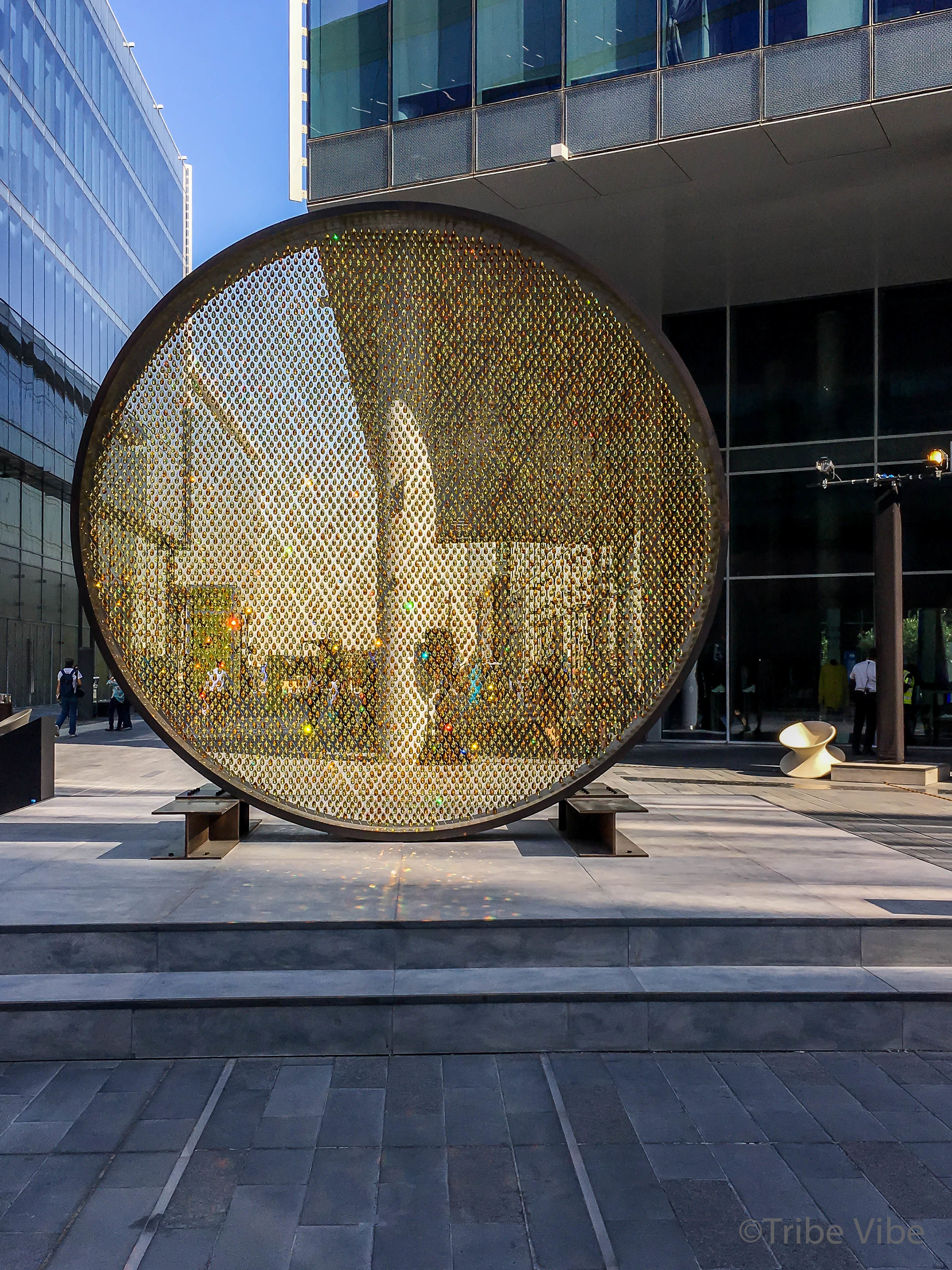 Dubai sun made from Swarovski crystals