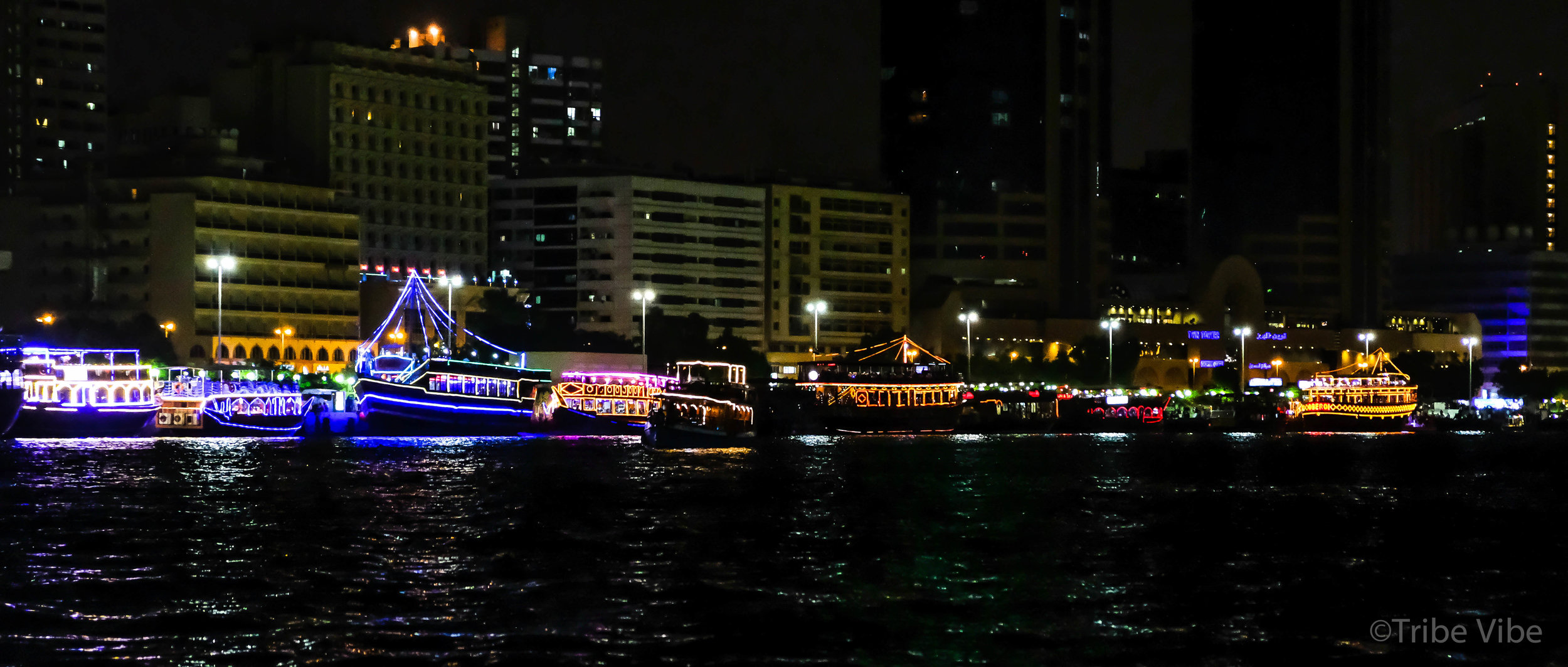 Dubai Creek Canal by night