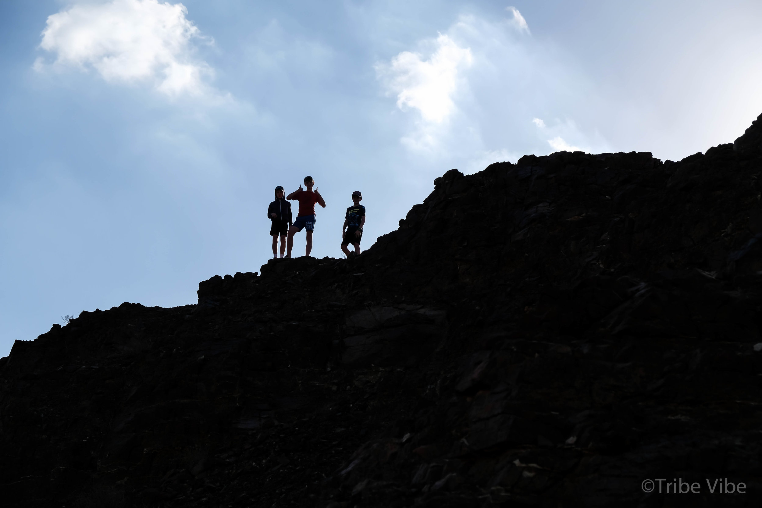 boys on the ridge on the camel farm hike UAE8.jpg