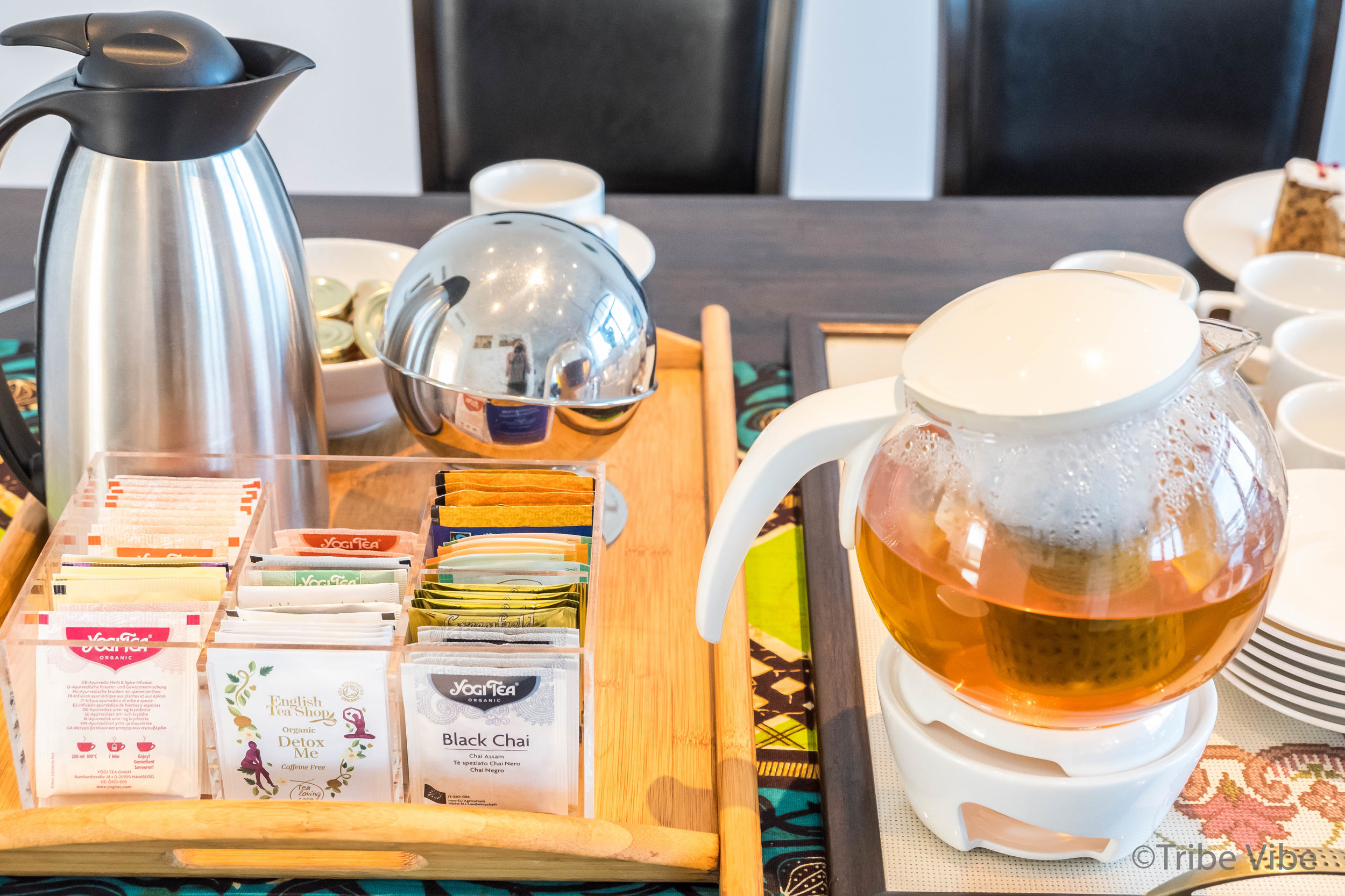 A beautiful pot of ginger tea was waiting for us